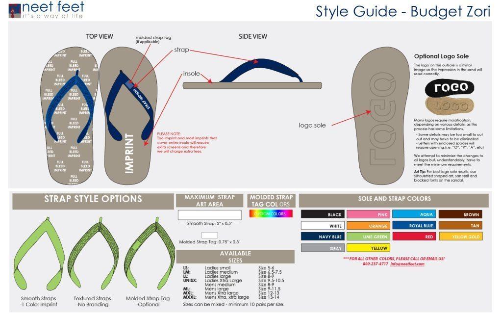 Budget Zori Style Guide